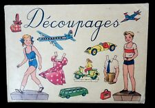 12 page Paper Doll Set + 4 Dolls w Outdoor outfits French reproduction