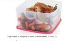 Tupperware Fresh N Cool Large Square Fruit Vegetable Container W Seal 22 Cup New