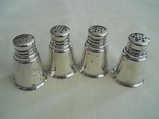 International Sterling Silver 4 Salt / Pepper Shakers