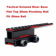 Tactical Extension Rail Mount High Riser Base Converter for 20mm Picatinny Rail