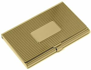Gold Plate Business Card Holder