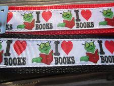 Key Fob, Key Chain, Wrist key holder I love Books either Red or Black USA