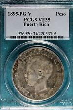 1895-PG V PCGS VF35 Puerto Rico Peso!! #B7042