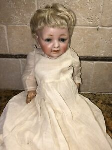 "Antique Kestner JDK 211 Sammy Character Bisque Baby Doll 12"" Glass Sleep Eyes"