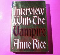 Interview With the Vampire by Anne Rice 1993 HC DJ 1st Edition 6th Print Horror.
