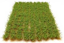 X117 Sheet Self Adhesive Static Grass Tufts - Model Scenery Flock Diorama Bushy Green