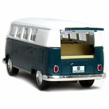 "5"" Kinsmart Classic 1962 Volkswagen Bus Van Diecast Model Toy 1:32 VW- Green"