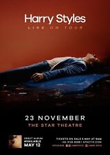 "HARRY STYLES ""SOLO DEBUT TOUR""SINGAPORE 2017 CONCERT TOUR POSTER - One Direction"