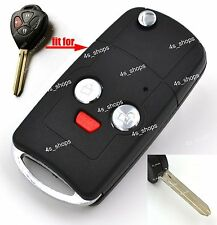 Flip Key Case Refit Shell For Toyota 4 Runner Matrix RAV4 Vemza Yaris Scion tC