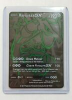 Pokemon Rayquaza GX Ultra Rare Full Art Black Metal Custom Card Hard Metal