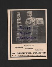 Bikers, advertising 1931, Phil. Squirrel's WWE Factory Pyramid Cube-Lotto Games