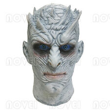 Halloween Cosplay Night King Mask Latex Overhead Game of Thrones White Walker