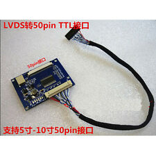 "LVDS 20 Pin to 50 Pin TTL Adapter Conversion Board for 5~10"" 50pin TTL Panel"