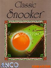 Classic Snooker (Anco 1987) - Commodore 64 Game - VGC & Complete - See Photos