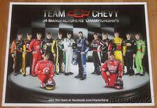 2011 Team Chevy NASCAR SC postcard Gordon Johnson Earnhardt, Jr. Stewart Harvick