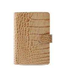 Filofax Classic Croc Personal Size Organizer Taupe/Fawn Leather - 026012