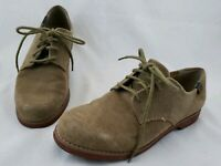Vintage 2008 Bass Shoes Women's 6.5 M Tan Brown Suede Oxfords EUC