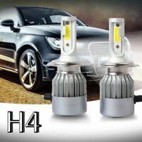 Nouveau 2pcs C6 LED Phare de voiture Kit COB H4 36W 7600LM Ampoules blanches V2