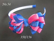 "100 Blessing Good Girl Boutique Headband 3"" A-chrysanthemum Hair Bow 98 No."