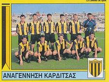 N°345 TEAM ANAGENNISI KARDITSA GREECE PANINI GREEK LEAGUE FOOT 95 STICKER 1995