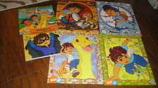LOT 6 GO DIEGO GO WOOD WOODEN PUZZLE BOOKS LOT PLAYSKOOL