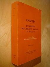 Annales faculté Droit 1983 Colloque association Historiens des idées politiques