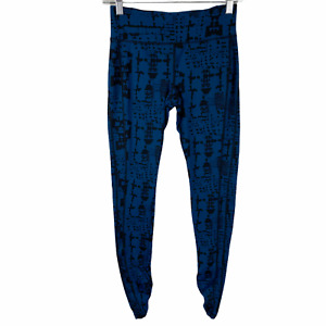 Cabi Leggings Skinny Tech Pants XS Blue Black Print Style 963