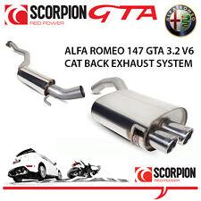 ALFA ROMEO 147 GTA SCORPION CAT indietro le prestazioni del sistema di scarico in acciaio inox
