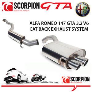 Alfa Romeo 147 GTA Scorpion Cat Back Performance Exhaust System Stainless Steel