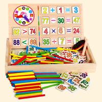 Hölzern Math Spielzeug Multifunktion Digital Stock Lernbox zum Vorschule Bildung