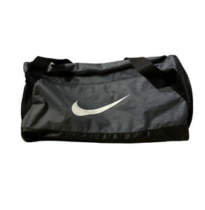 Nike Duffle Bag Size Medium Gray Sports Carrying Bag