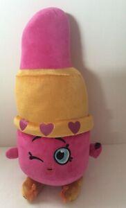 """Shopkins Hot Pink Lippy Lips Plush Stuffed Toy Large 16"""""""