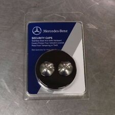 OEM GENUINE MERCEDES BENZ LICENSE PLATE STAINLESS STEEL SECURITY CAPS