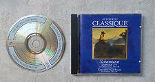 CD AUDIO / AU COEUR DU CLASSIQUE SCHUMANN SYMPHONIE N°1 OPUS 38 CONCERTO OPUS 54