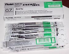 12 pcs Pentel Energel  Refill 0.7mm Green Metal Tip one dozen in box