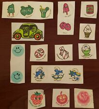 Vintage scratch & sniff stickers mixed lot ctp mello smello smurfs