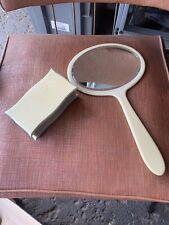 Vintage Bakelite Hand Mirror & Trinket Box