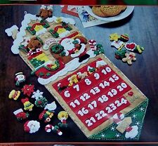 "Bucilla ""SANTA'S TOY SHOP ORIGINAL Felt Christmas Advent Calendar Kit-OOP 85127"