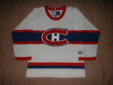 Montreal Canadiens White Vintage CCM Youth size Small/Medium NHL Hockey Jersey