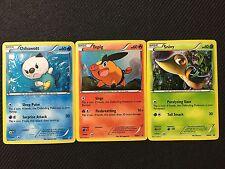 Pokemon Tcg : Bw Promo Lot Oshawott/Tepig/Snivy Bw06-07-08 Rare Holo