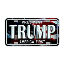 License Plate, Metal Tag Cover, Trump 2020, America First, United States Flag