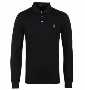 $89.50 NWT Men's Polo Ralph Lauren Custom Classic Fit Weathered Mesh Shirt Black