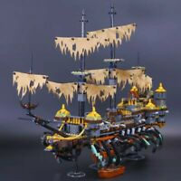 Pirates of the Caribbean The Silent Mary Pirate Ship Legoed Blocks Toys Kit