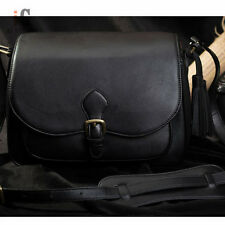 Waterproof PU Camera Shoulder Bag Black for Micro single Canon Nikon Polaroid