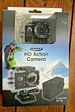 """Zennox HD Action Camera Waterproof 720p 2"""" Screen & 16 Accessories"""