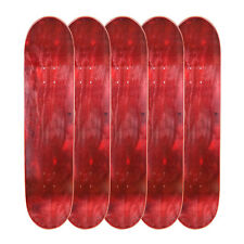 "Lot of 5 Cal 7 Blank Maple 8.0"" Skateboard Deck Red Bundle Combo 5 PK Set"