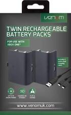 Xbox One Controller USB New Rechargeable Spare Battery Batteries Twin Pack Black