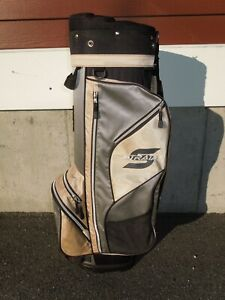 Strata By Callaway, Golf Bag - Color: Khaki / Gray / Black - 8 Way Divider