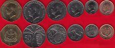Samoa set of 6 coins: 2 sene - 1 tala 2000-2002 Unc
