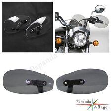 Motorcycle Hand Guards Protector Wind Deflectors For Yamaha Cruiser Custom Black